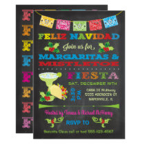 Feliz Navidad Christmas Mistletoe and Margaritas Invitation