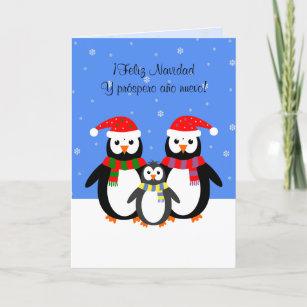 Feliz navidad cards zazzle feliz navidad christmas new year penguins spanish holiday card m4hsunfo