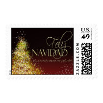 Feliz Navidad Christmas Postage Stamps