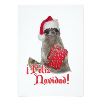 Feliz Navidad - Christmas Raccoon Bandit Announcements