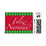 Feliz Navidad Christmas Stamp