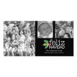 Feliz Navidad - collage de 3 fotos Tarjetas Fotográficas Personalizadas