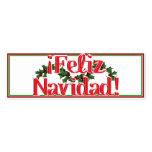 Feliz Navidad con acebo Tarjetas De Visita Mini