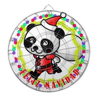 Feliz Navidad - Cute Cartoon Panda Bear Santa Dart Boards