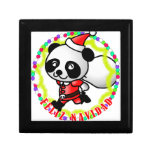 Feliz Navidad - Cute Cartoon Panda Bear Santa Jewelry Box