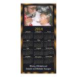 Feliz Navidad de la foto 2014 del calendario del n Tarjetas Fotográficas Personalizadas