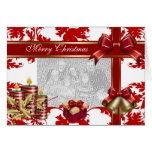 Feliz Navidad de la tarjeta añade navidad blanco r