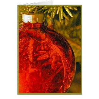 ¡¡Feliz Navidad del ornamento gigante del navidad Tarjeta De Felicitación