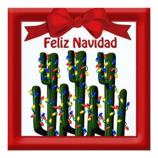 Feliz Navidad Desert Christmas Cactus Greeting Invitation