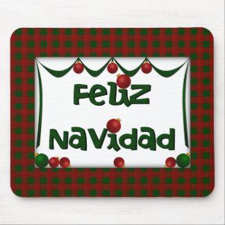 Feliz Navidad - día de fiesta Mousepad de las Feli Alfombrilla De Raton