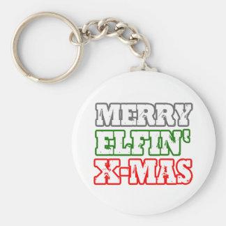 FELIZ NAVIDAD ELFIN - .PNG LLAVERO REDONDO TIPO PIN