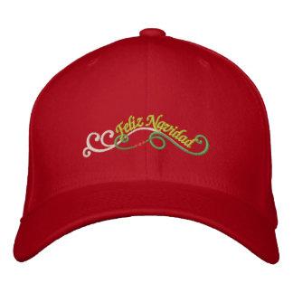 Feliz Navidad Embroidered Baseball Caps