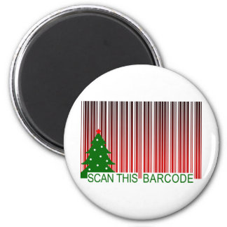 FELIZ NAVIDAD: explore este código de barras Imán Redondo 5 Cm