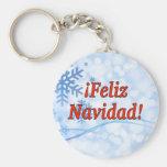 ¡¡Feliz Navidad! Felices Navidad en el rf español Llavero Redondo Tipo Pin