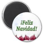 ¡¡Feliz Navidad! Felices Navidad en gf español Imán Redondo 5 Cm