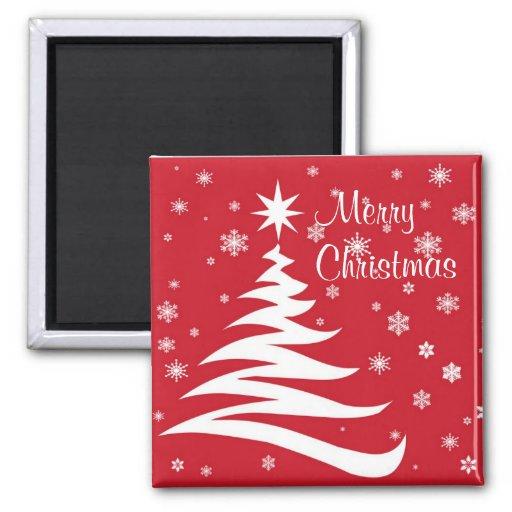 Feliz Navidad ....., Felices Navidad Imán Cuadrado