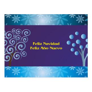 Feliz Navidad Feliz Año Nuevo Tarjeta Postal