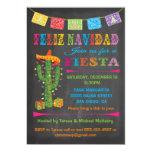 Feliz Navidad Fiesta Cactus On Chalkboard Card at Zazzle