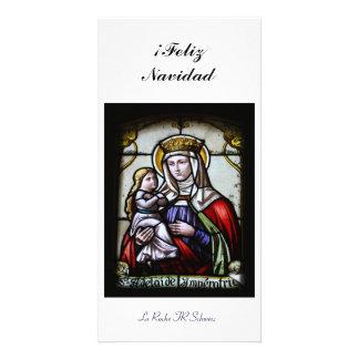 ¡Feliz Navidad Fotokarte Tarjeta Personal Con Foto