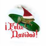 Feliz Navidad - Frog Dashing Through the Snow Photo Cut Out
