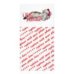 Feliz Navidad - gatito del bastón de caramelo Tarjetas Con Fotos Personalizadas