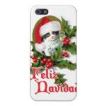 Feliz Navidad - gatito del navidad iPhone 5 Protector