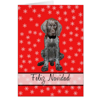 Feliz Navidad german shorthaired pointer Chistmas Card