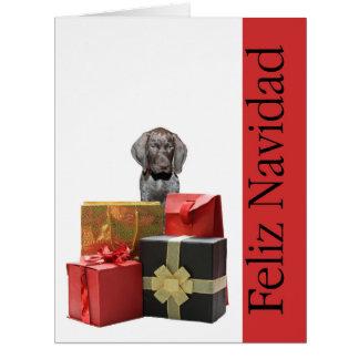 Feliz Navidad german shorthaired pointer Chistmas Greeting Card