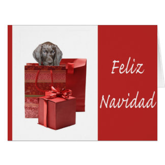 Feliz Navidad german shorthaired pointer Chistmas Greeting Cards