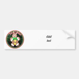 Feliz Navidad - Gingerbread Man Ornament Car Bumper Sticker