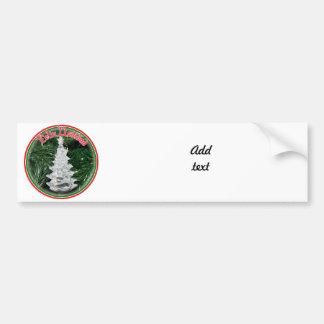 Feliz Navidad - Glass Tree Ornament Car Bumper Sticker
