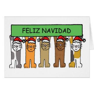 Feliz Navidad Happy Christmas in Spanish Card