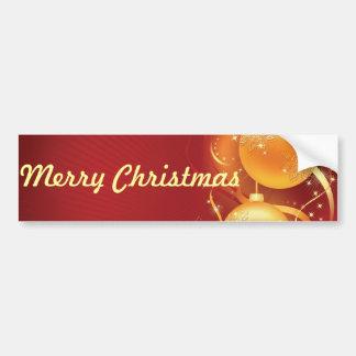 feliz navidad happy holiday car bumper sticker