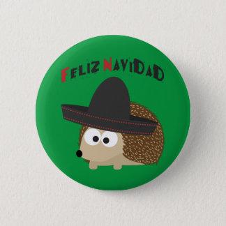 Feliz Navidad Hedgehog Button