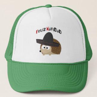Feliz Navidad Hedgehog Trucker Hat