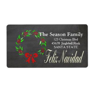 Feliz Navidad Holiday Address Label