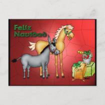 Feliz Navidad Holiday Postcard