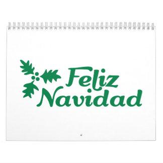 Feliz Navidad holly Calendar
