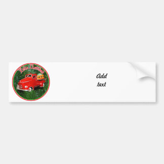 Feliz Navidad - Little Red Pick-up Truck Car Bumper Sticker