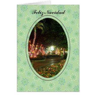 Feliz Navidad Luces Greeting Card