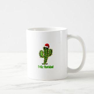 Feliz Navidad - luces del Saguaro del navidad de A Taza De Café