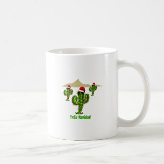 Feliz Navidad - luces del Saguaro del navidad de A Taza