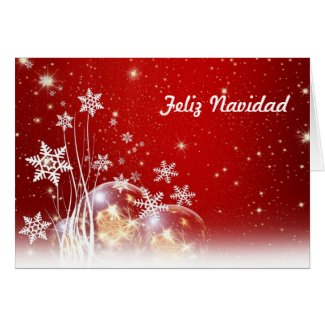 Feliz Navidad Merry Christmas in Spanish and Jesus Greeting Card
