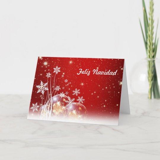 Merry Christmas In Spanish.Feliz Navidad Merry Christmas In Spanish And Jesus Holiday Card