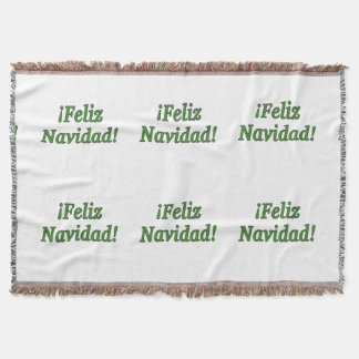 ¡Feliz Navidad! Merry Christmas in Spanish gf Throw Blanket