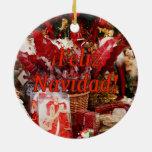 ¡Feliz Navidad! Merry Christmas in Spanish rf Christmas Ornaments