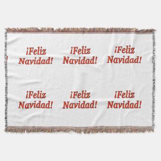 ¡Feliz Navidad! Merry Christmas in Spanish rf Throw