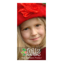 Feliz Navidad: One Large Photo Card