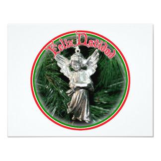 Feliz Navidad - ornamento de plata del ángel Comunicados Personales