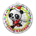 Feliz Navidad - oso de panda lindo del dibujo anim Tabla Dardos